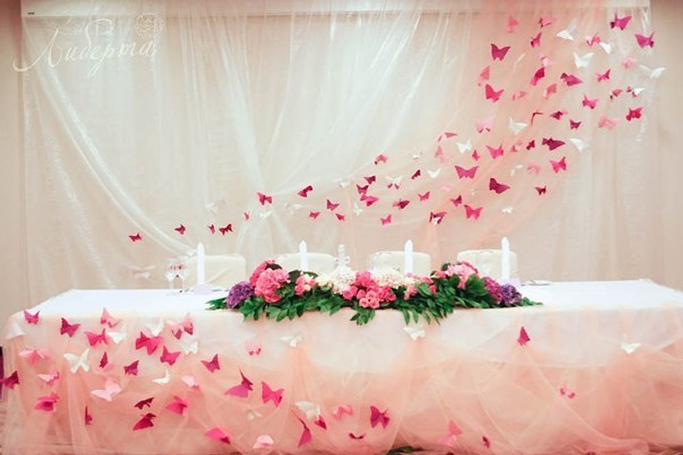 Как украсить стены для свадьбы