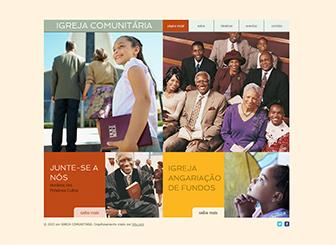 Igreja Comunitária Template - Alcance a sua comunidade com este website em HTML pronto para usar. Atualize e edite com facilidade. Adicione suas próprias imagens e textos  para uma completa personalização. Crie um website e entre online hoje mesmo!