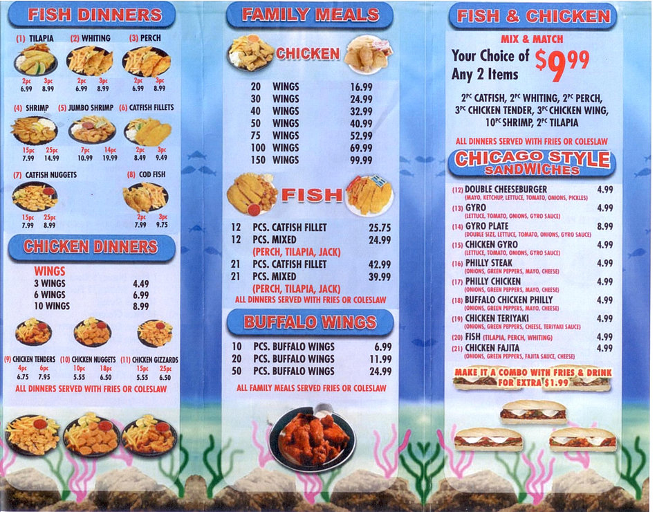 Welcome to hook fish chicken woodlawn for Hook fish chicken