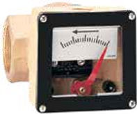 DIAL TYPE FLOW RATE MONITOR WITH SWITCH.