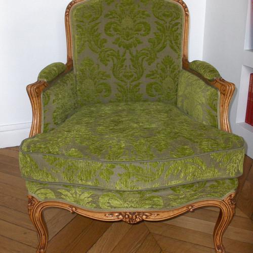 fauteuil bergre patins tapisss canns style ancien paris - Fauteuil Ancien Bergere