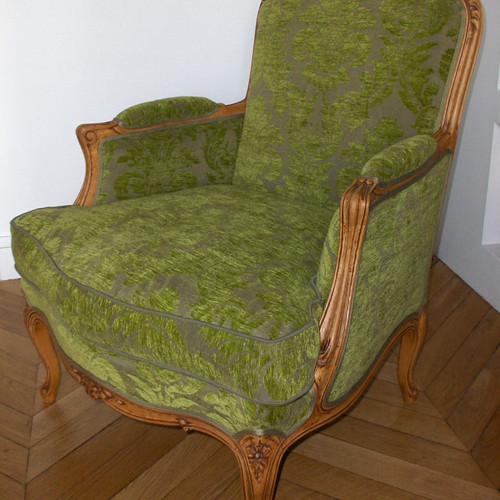 fauteuil bergre patins tapisss canns style ancien paris - Fauteuil Bergere Ancien