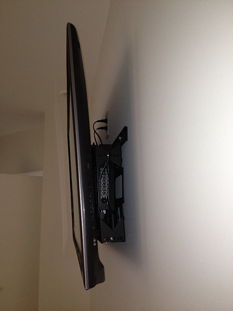 tv wall mount with cable box holder 2
