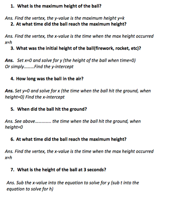Howtoquadratic Word Problems In Vertexfactored Form