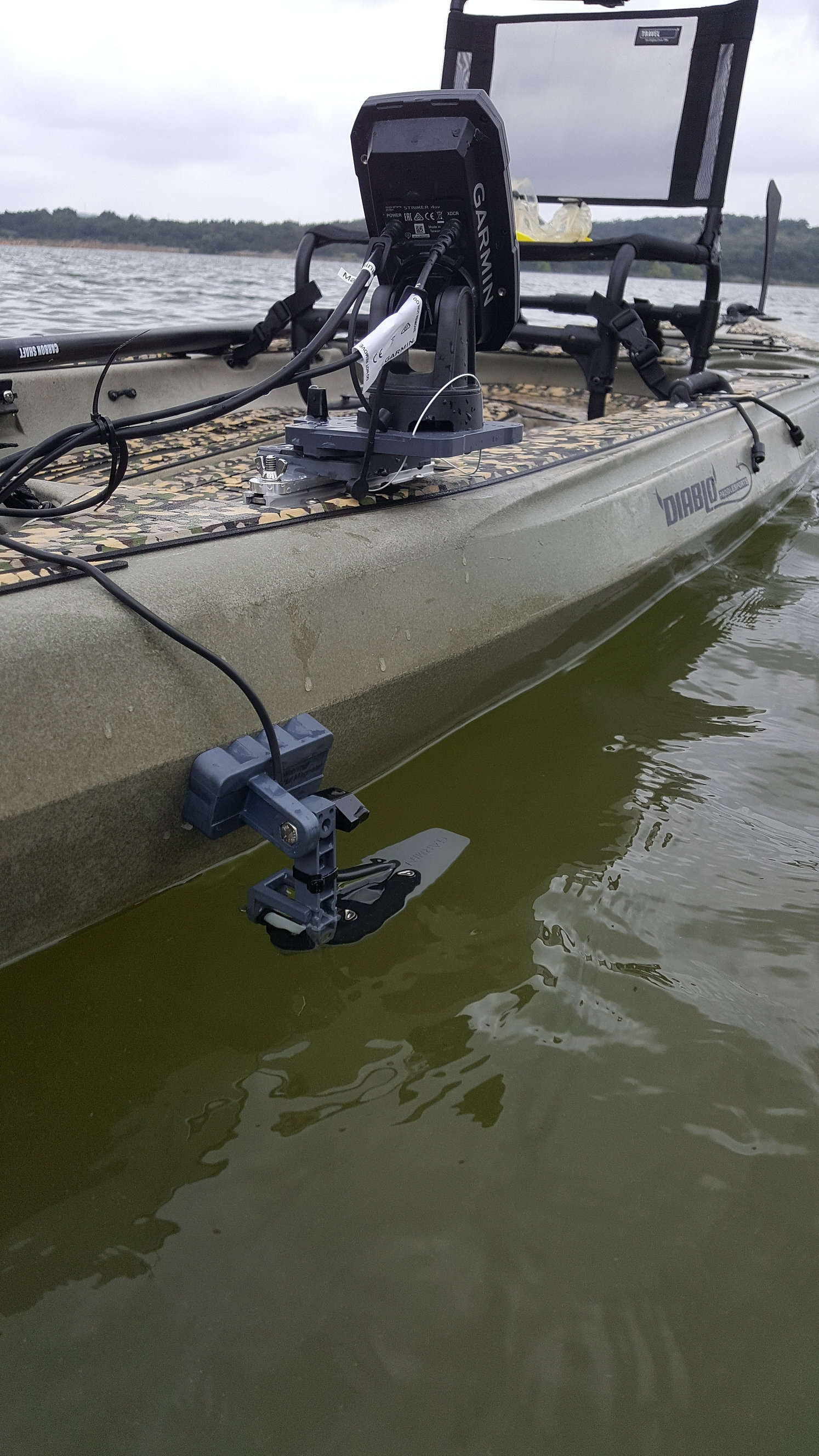 Fish finder mounts com diablo kayak fish finder mount for Fish finder on kayak