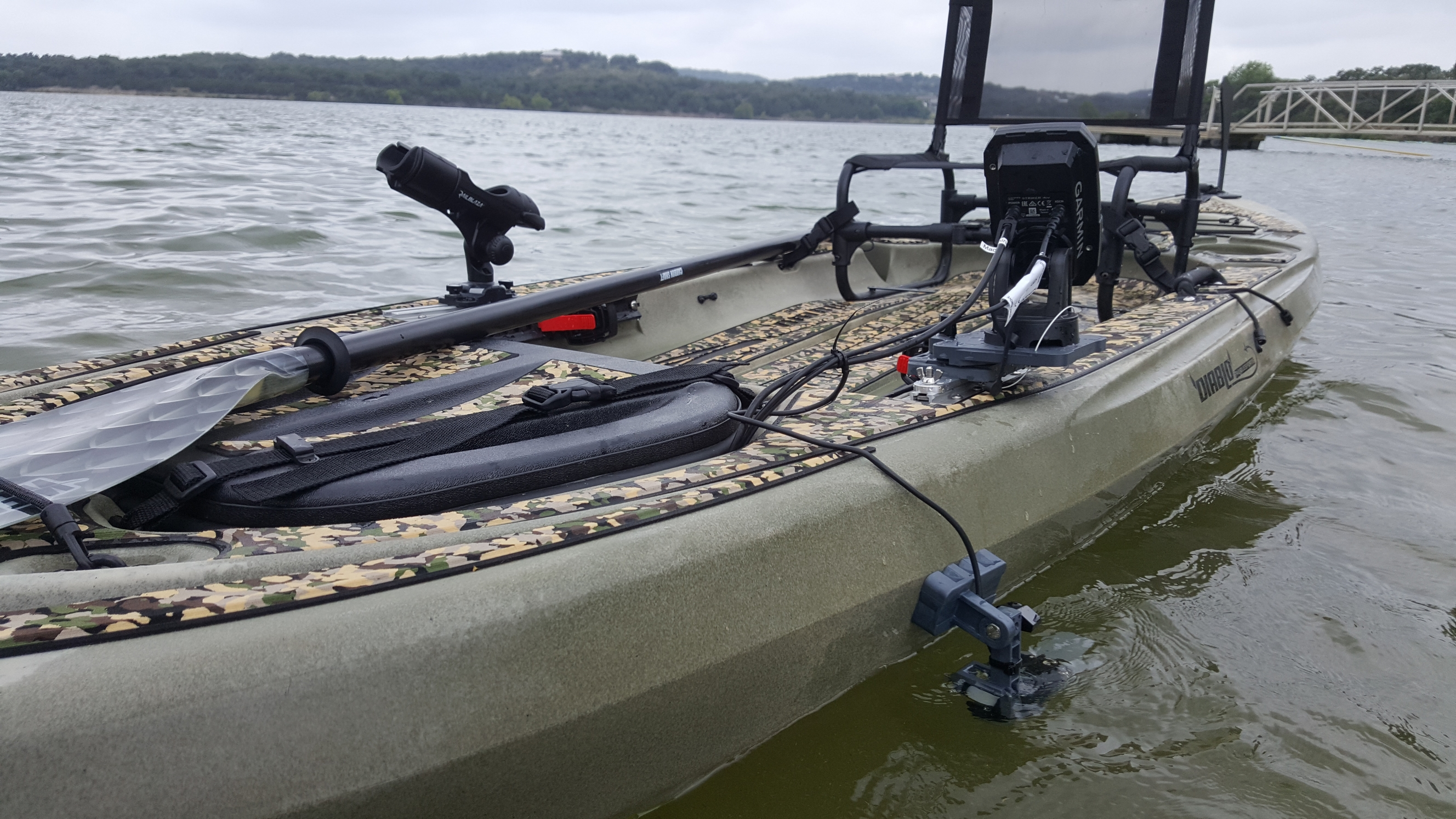 Fish finder mounts com garmin striker 4 on kayak for Fish finder on kayak