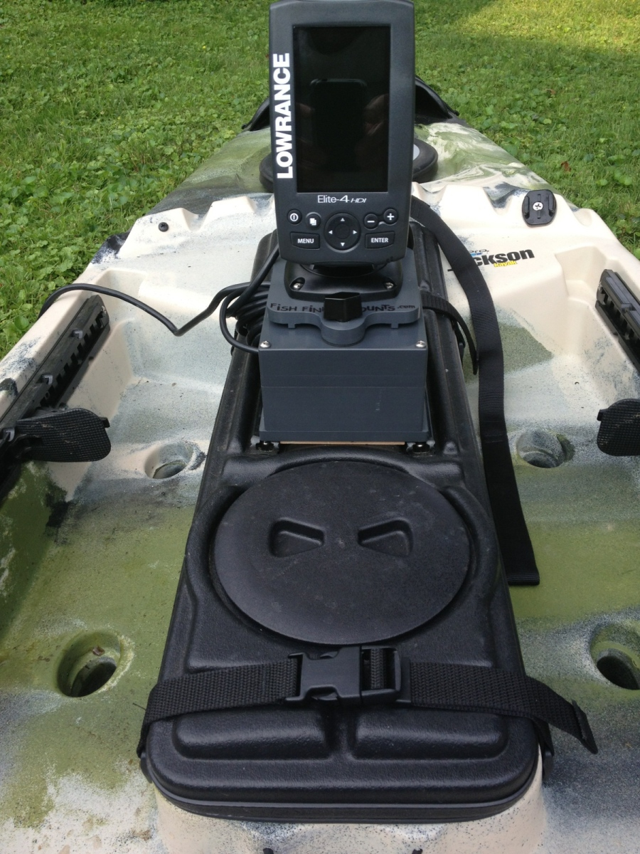 Fish finder mounts com jackson kayak fish finder for Fish finder on kayak