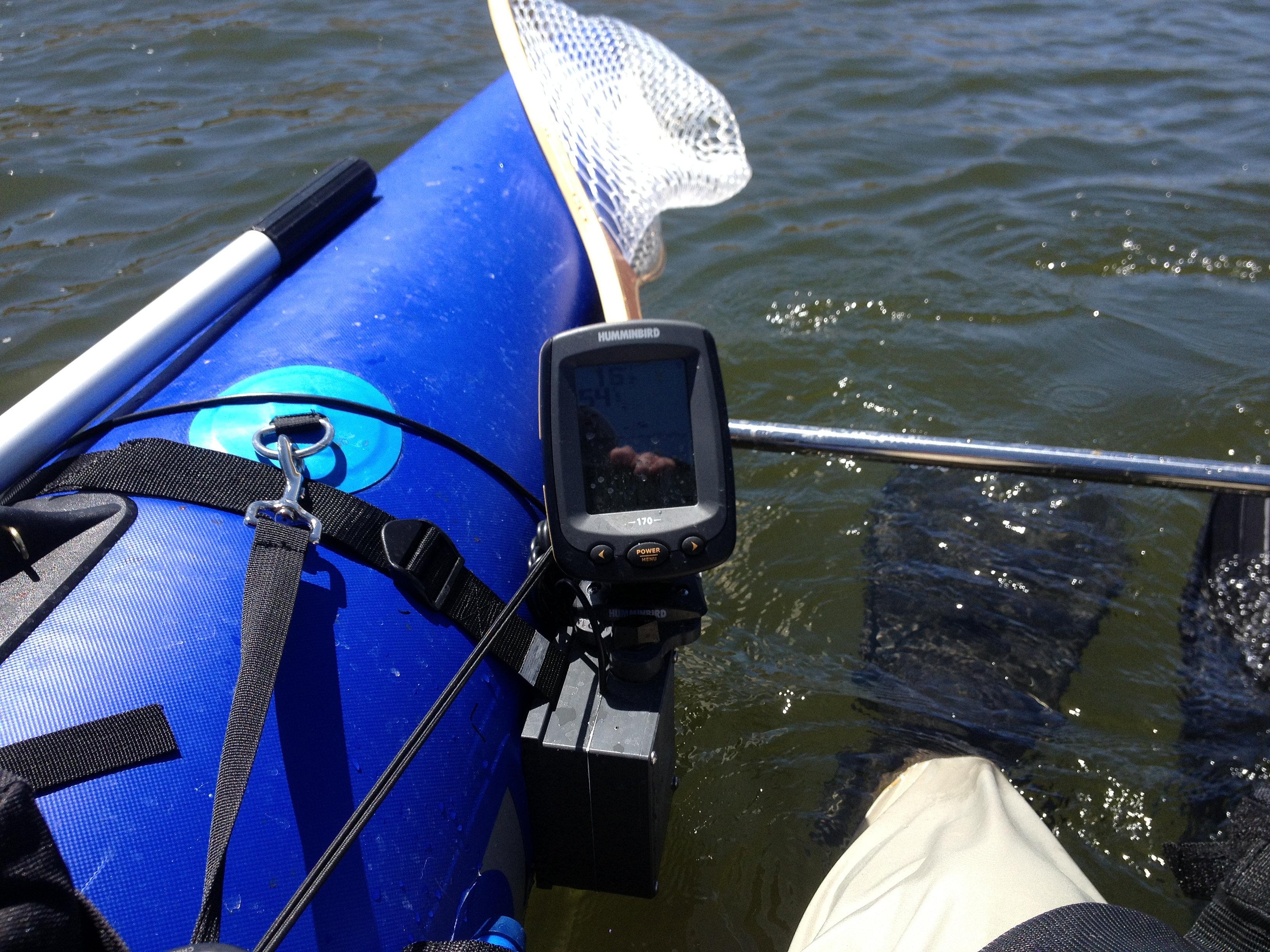 Fish finder mounts com outlaw renegade fish finder bracket for Float tube fish finder