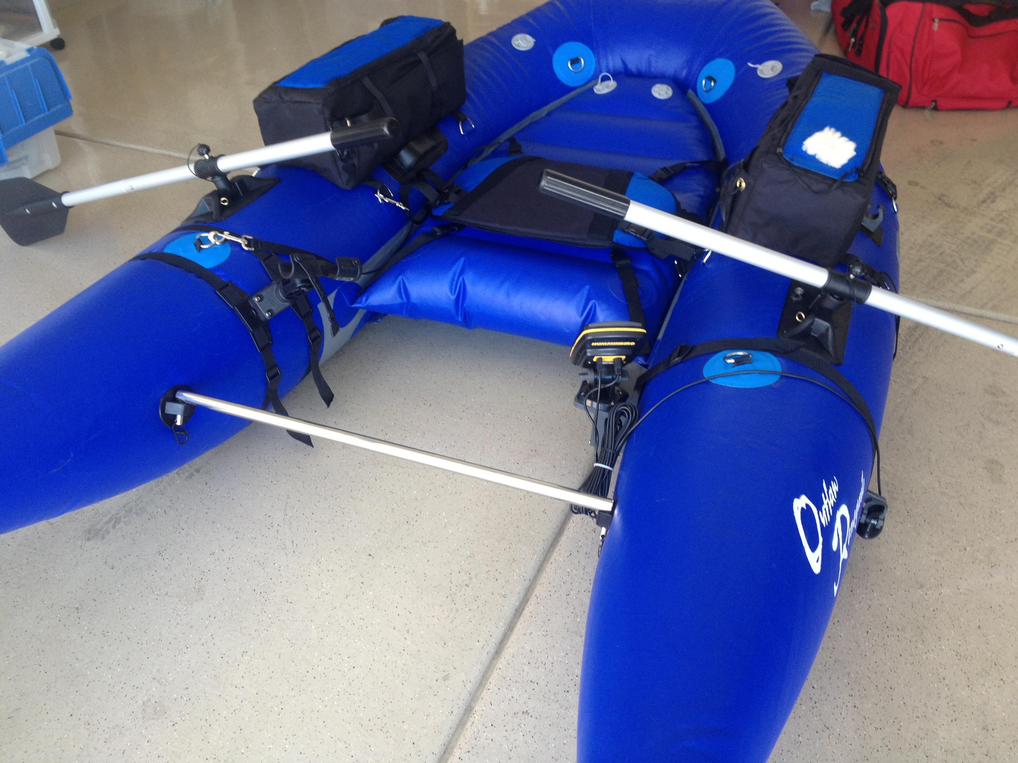 Fish finder mounts com dave scadden float tube sonar for Float tube fish finder