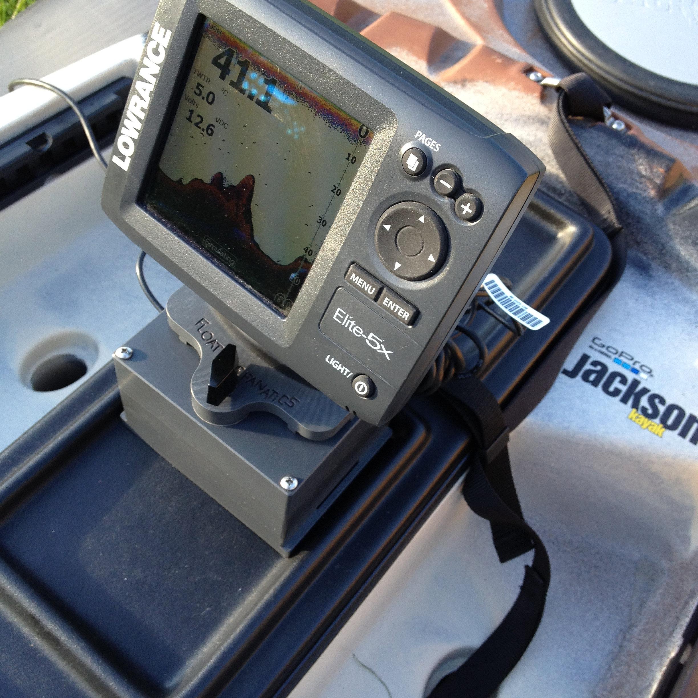 Fish finder mounts com jackson cuda 12 fishfinder setup for Kayak fish finder mount