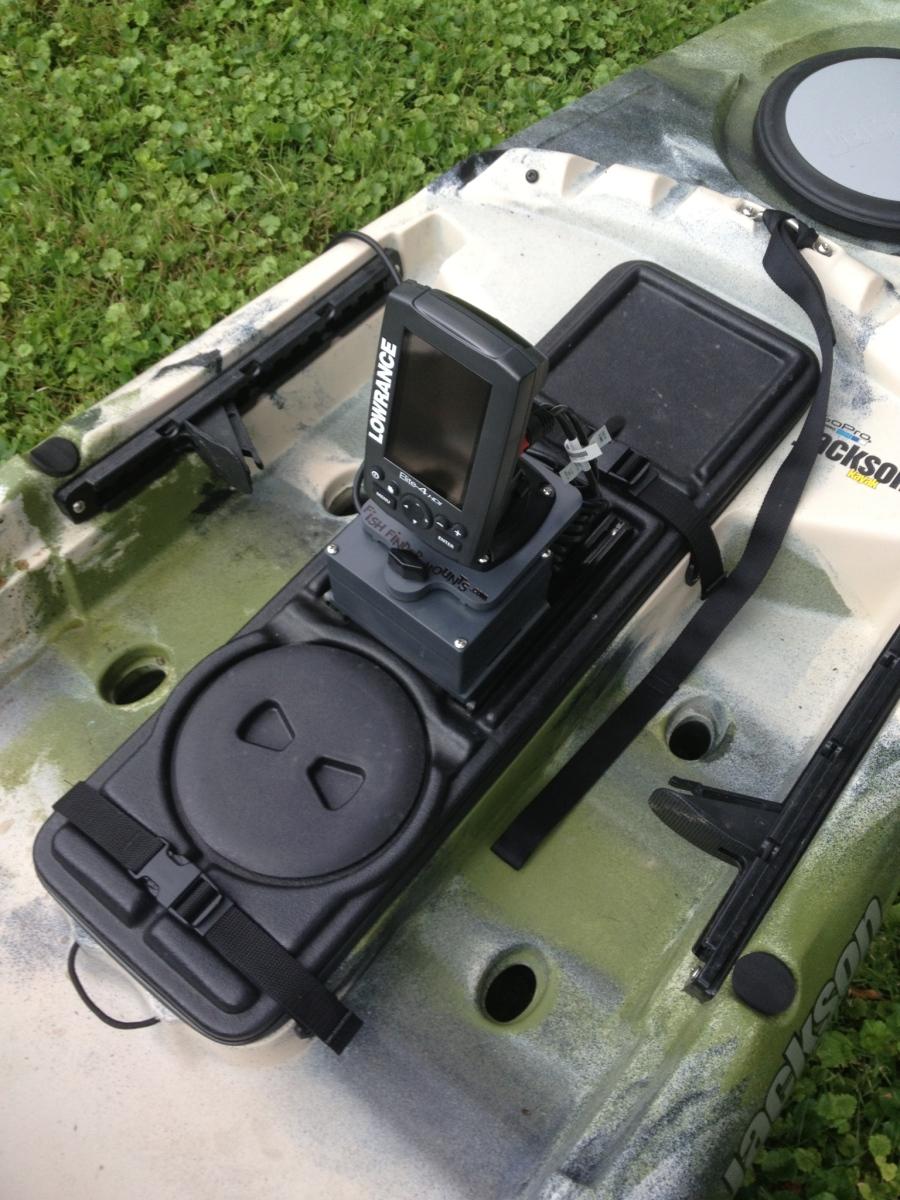 Fish finder mounts com jackson cuda fish finder set up for Fish finders for kayaks