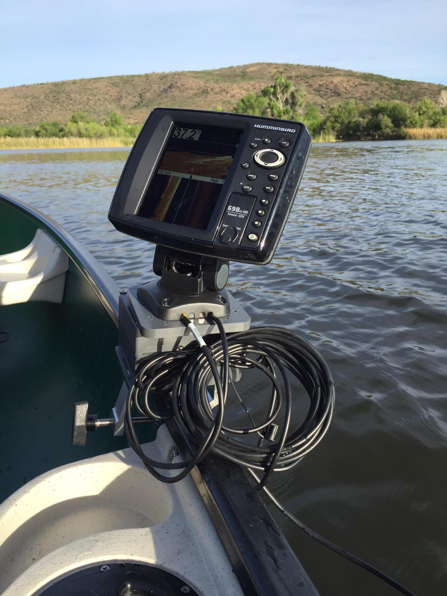 fish finder mounts  | humminbird 600 series on canoe, Fish Finder