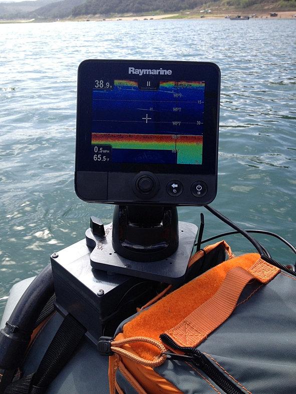 The home of fish finder mounts com for Float tube fish finder