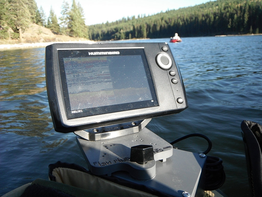 fish finder mounts  | humminbird helix 5 on belly boat, Fish Finder