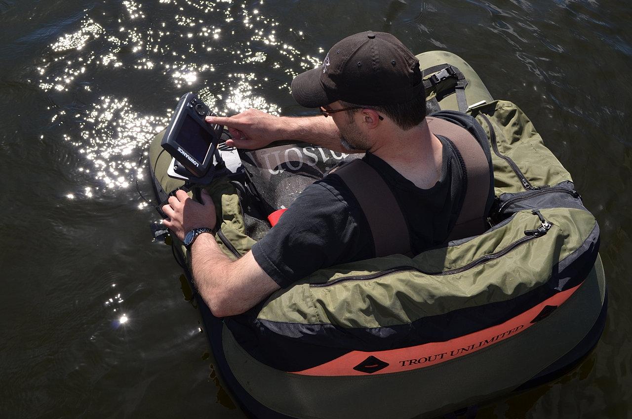 Fish finder mounts com float tube fish finder for Float tube fish finder