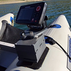 fish finder mounts  | helix 5 sonar on sea eagle 285, Fish Finder
