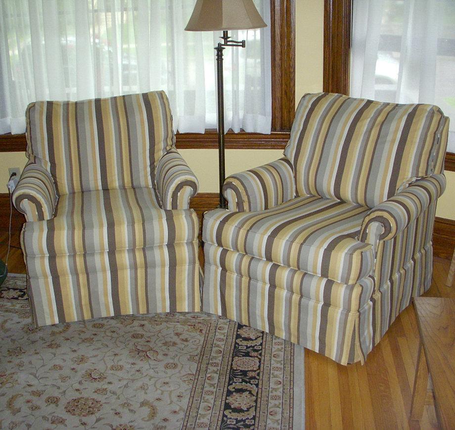 Striped Living Room Chairs Kl Upholstery Minneapolis Upholstery Custom Upholstery Mn St Paul