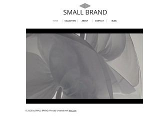 Small Brand Template - Leave your mark with this sleek and stylish website template. Upload photos to show off your designs and capture the essence of your brand. Customize the layout and color scheme to stand out from the crowd! Use the Blog page to keep your followers up to date on your latest activities.