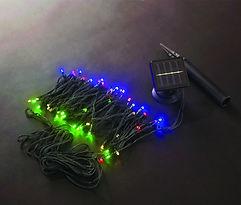 Luces de navidad multicolor por energia solar