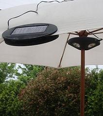 Luz para sombrilla solar