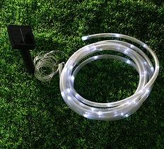 Tubo led blanco solar para decoracion exterior