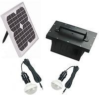 Kit iluminacion solar 2 lamparas led de 48 led