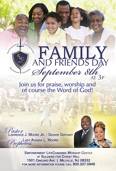 Family and Friends Day Flyer