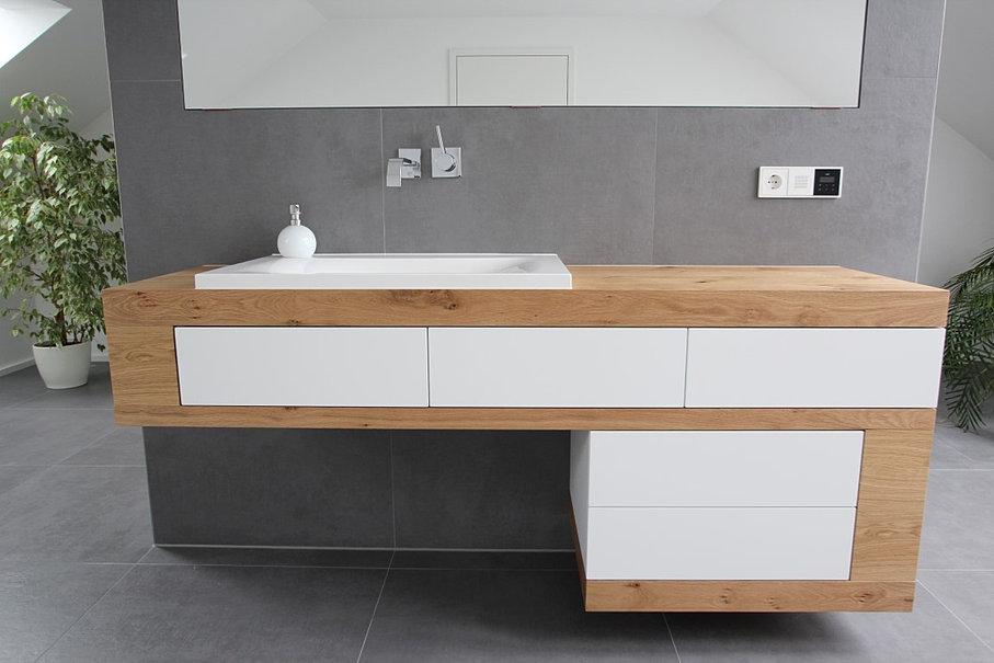 schreinerei tobias roglmeier badm bel wildeiche weisslack. Black Bedroom Furniture Sets. Home Design Ideas