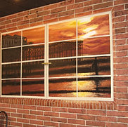 Brick Wall & Window Mural