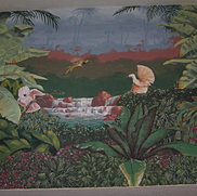 Interior Jungle Mural