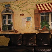 Interior French Bistro Mural
