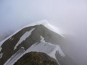 L'arête neigeuse, itinéraire retour