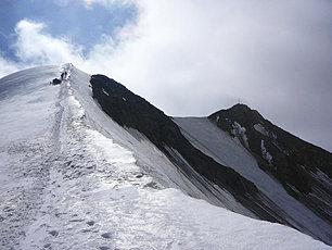 L'arête de la Wildspitze