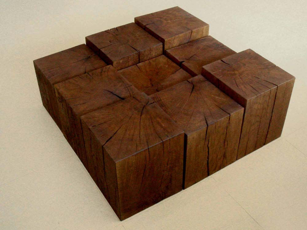 Oak Wood Cubes Table 3