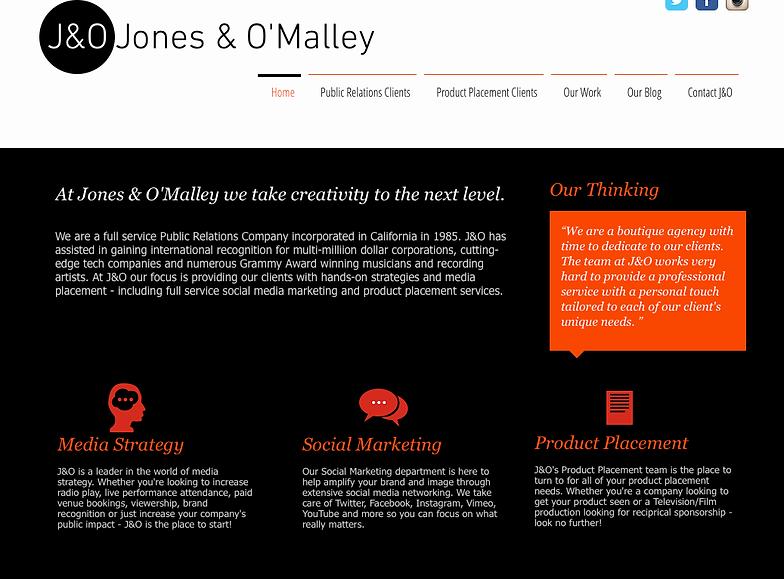 Jones OMalley Public Relations