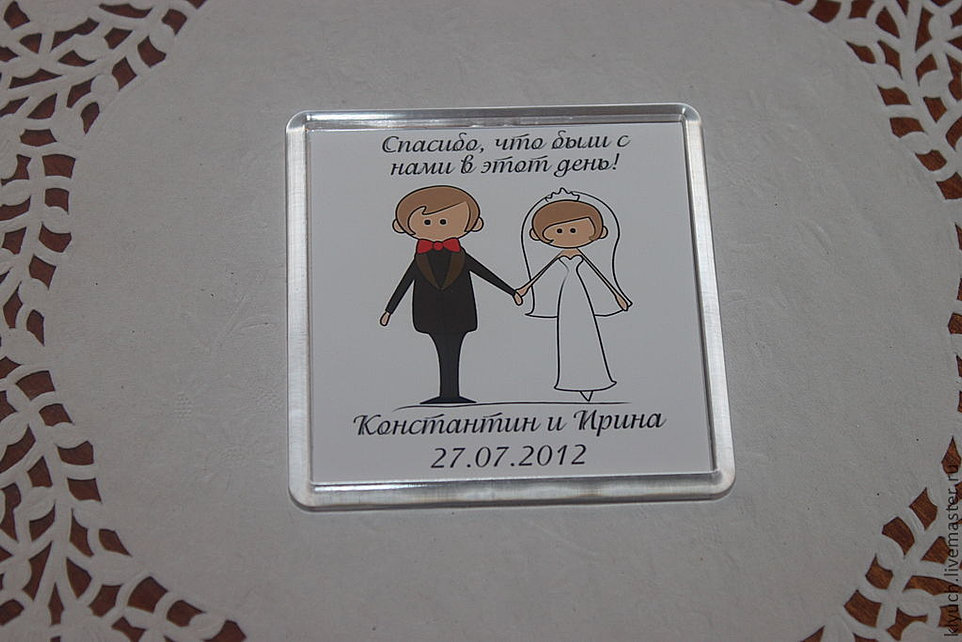 Как сделать магнит на свадьбу
