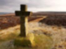 Cowper's Cross, Cowper's Cross, Ilkley Moor, West Yorkshire, England. Stone cross.