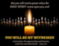 Candles as a symbol of the Holy Spirit - Text of Acts 1:8