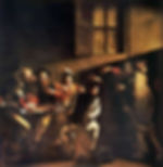 Painting - The Calling of St. Matthew by Michelangelo Merisi de Caravaggio 1599.