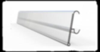 Profilé porte-prix V pour tablette métallique