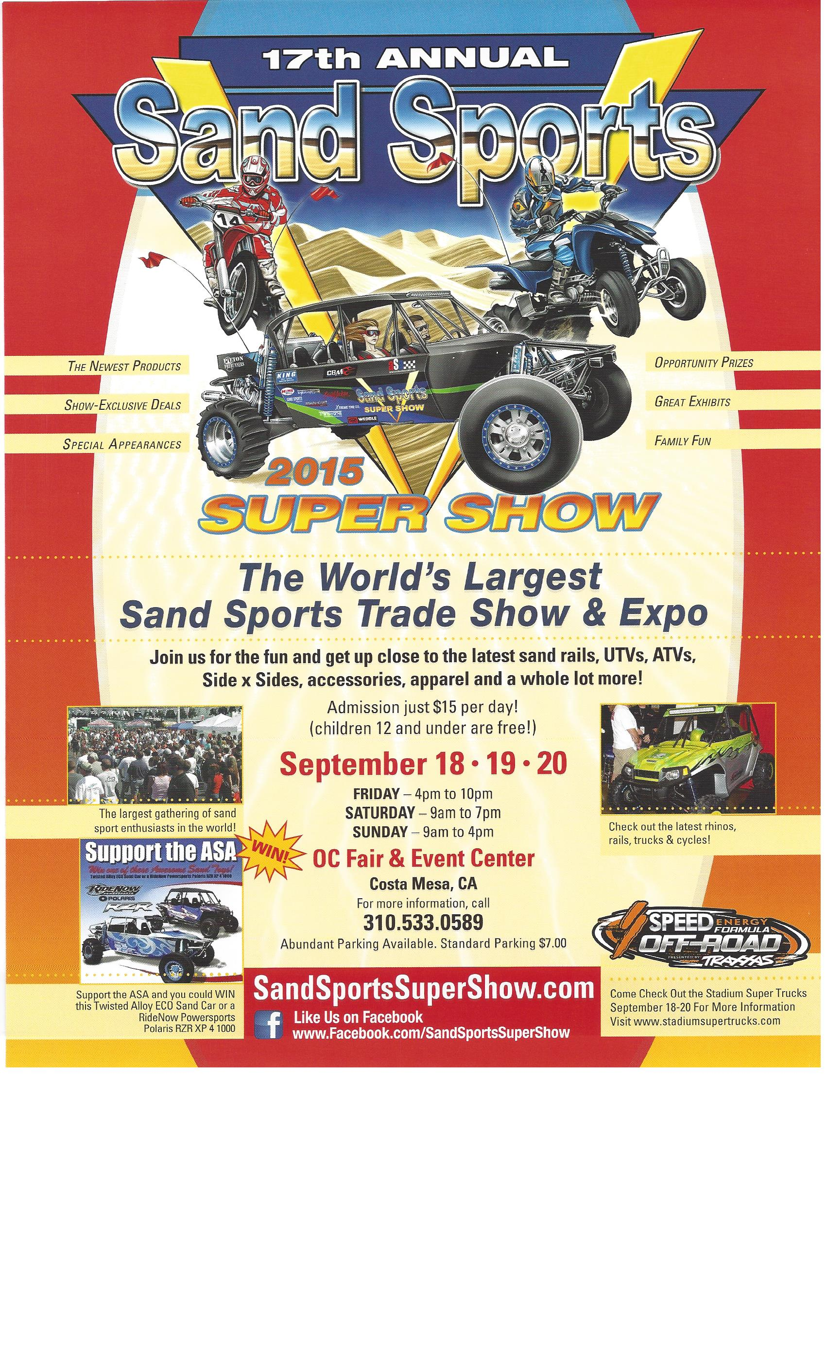 World 39 s largest sand sports trade show slip face sandboards for Largest craft shows in the us