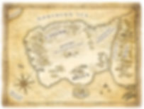Fantasy map The Crown of Stones