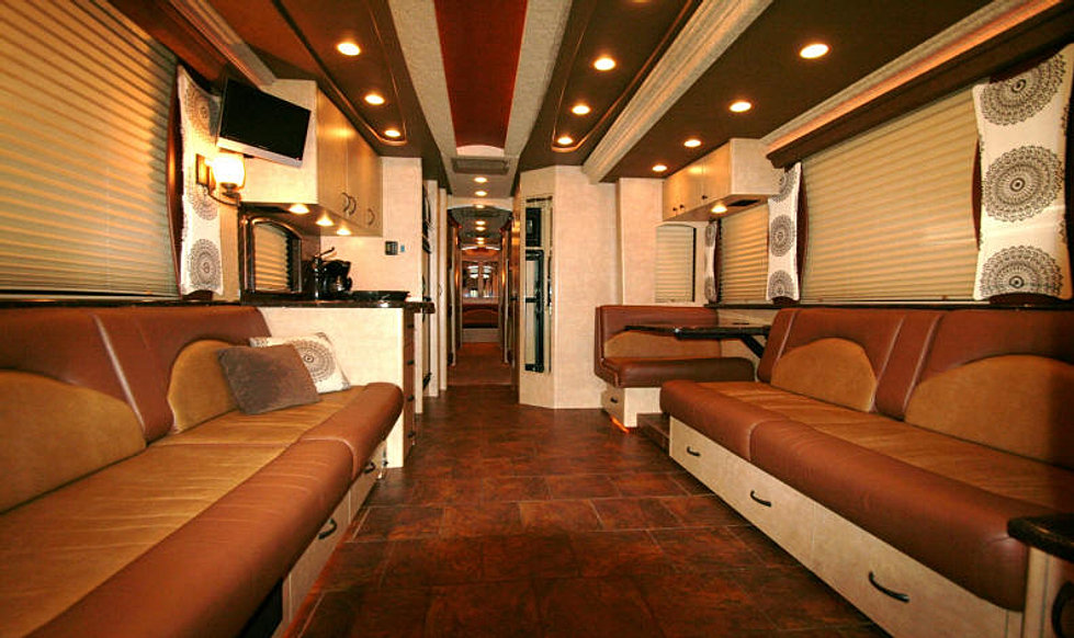 Rock safaris llc entertainer coaches vip tour bus rental Tour bus interior design