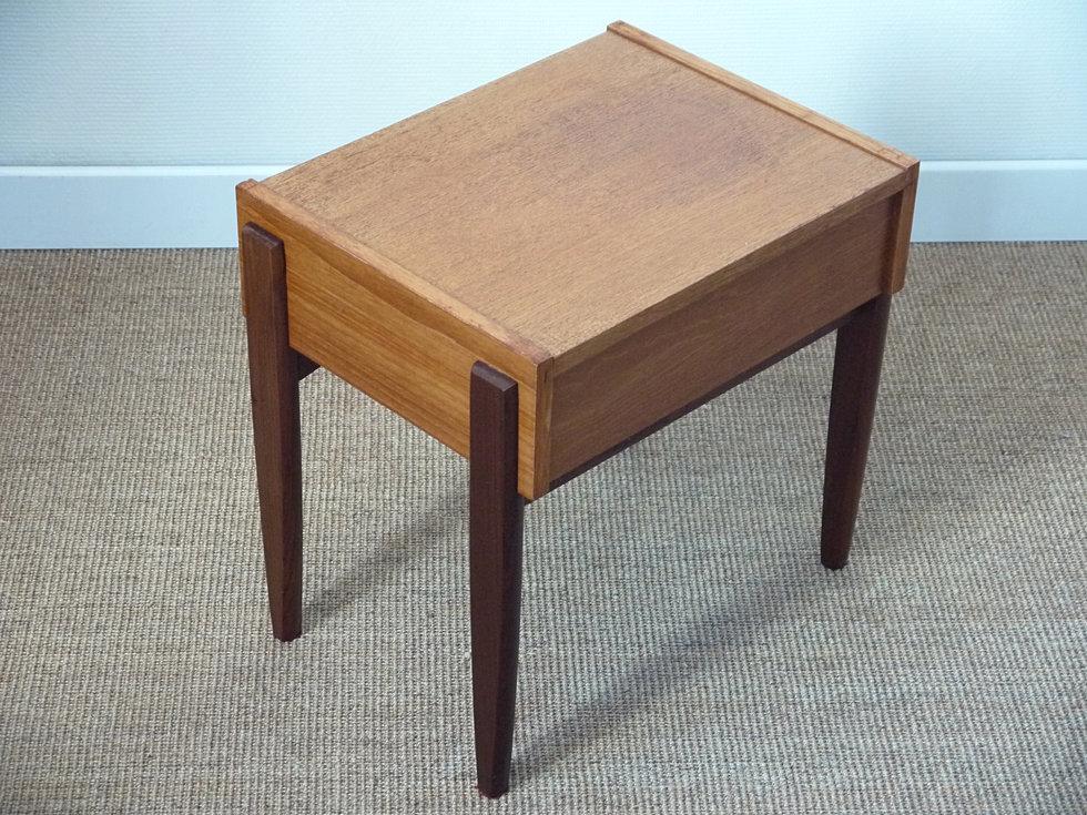 Anterieur design chevet style scandinave teck vintage for Table de chevet teck