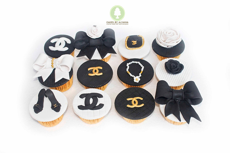 Chanel themed cupcakes