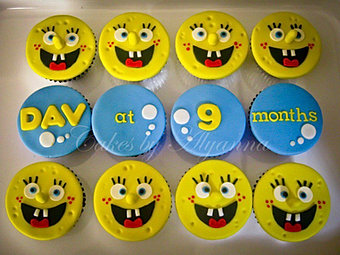 Spongebob cupcakes for Dav
