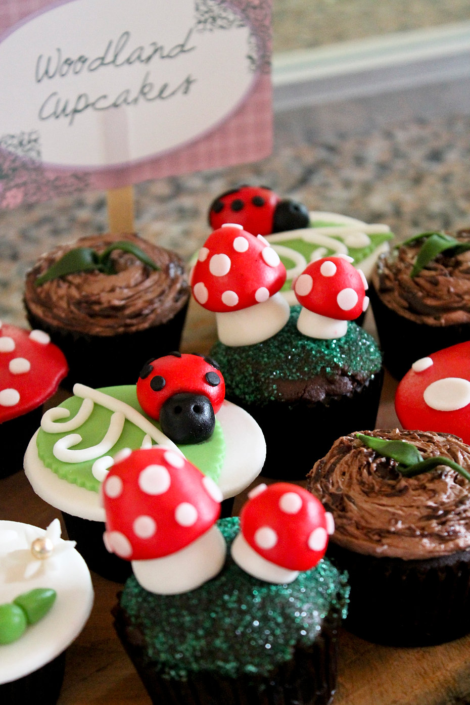 Enchanted Forest cupcakes