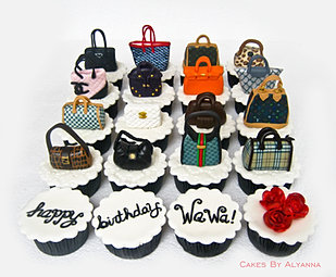 Bag-a-holic cupcakes for Wawa