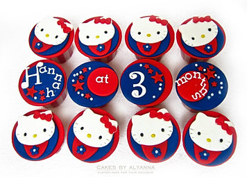 Hello Kitty circus cupcakes