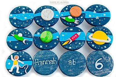 Galaxy cupcakes for Hannah